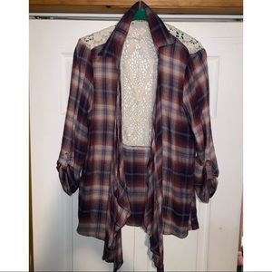 A flannel coverup